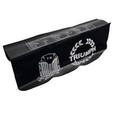 "Wing cover 22x34"" Triumph logo (white) Black - Strong PVC Non-slip NEW GAC9975X"