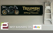 Triumph Daytona 675 Banner for Workshop, Garage, Pit lane, Track, 1300mm x 325mm