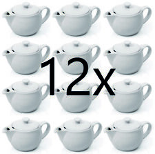 12 Stück Teekännchen, Kännchen mit Deckel, Porzellan, Kanne 0,35 l