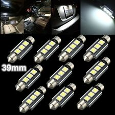 10x 39mm 3 LED 5050 SMD C5W CANBUS Sans Erreur Feston Dôme Lampe Ampoule Blanc