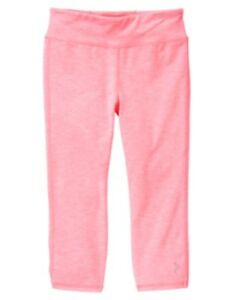 GYMBOREE GYMGO CORAL CATIONIC PRINT ACTIVE CROP LEGGING 2 5 6 7 8 10 12 NWT
