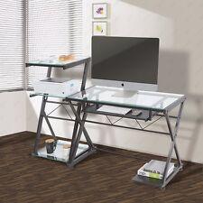 Corner PC Computer Desk Laptop Table Student Workstation Office Home Furniture