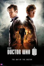DOCTOR WHO: DAY of the DOCTOR Tennant - Smith - Hurt 24x36 BBC TV Show Poster