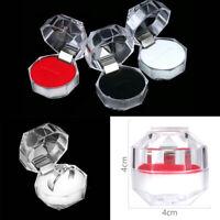 Crystal Beautiful Earring Storage Display Case Jewelry Box Ring Organizer