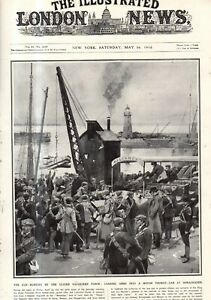 1914 London News May 16 - 58 Newfoundland sealers die; U.S. goes into Mexico;
