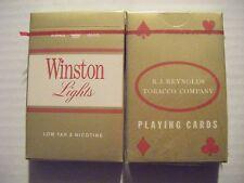 NEW 2 packs WINSTON LIGHTS Playing Cards 1980s RJ Reynolds marlboro unopened NIP