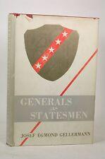 Generals As Statesmen, Gellermann, Josef, Egmond - Vantage Hardcover Book