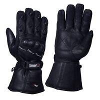 Leather Motorbike Motorcycle Gloves Biker Waterproof Windproof Thermal New