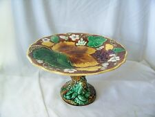 Old Wedgwood Majolica Pottery Grape & Strawberry Cake Stand