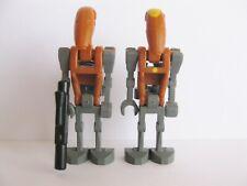 2x LEGO STAR WARS 8086 BATTLE DROID and DROID COMMANDER LA GUERRE DES ETOILES