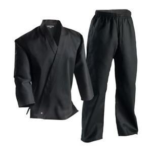 Century Black 6oz Lightweight Martial Arts Uniform Gi Size 1