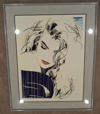 1989 Dennis Mukai Hand Signed & Numbered BLUE VIOLET Lithograph w/ COA