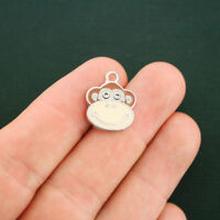 5 Ice Skates Charms Silverplated Enamel Fun and Colorful E114
