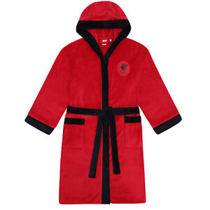 Liverpool FC Mens Dressing Gown Robe Hooded Fleece OFFICIAL Football Gift