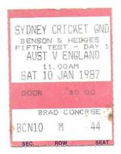 AUSTRALIA v ENGLAND -1987 ASHES SERIES - 5TH TEST SYDNEY TICKET