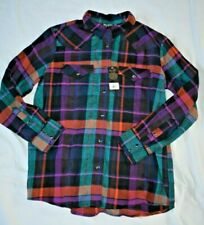 Wrangler Womens Retro Plaid Flannel Pearl Snap Western Shirt Lw8068m Size Xxl