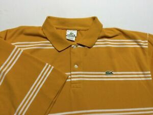 LACOSTE Men's Polo Shirt Logo orange Short Sleeve 100% Cotton Size 9 3XL