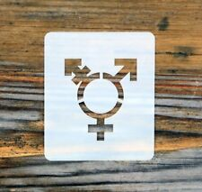 Transgender Symbol Face Painting Stencil 7cm x 6cm Washable Reusable Mylar