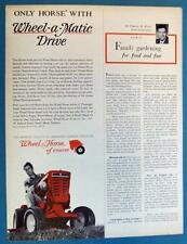 Original 1966 Wheel Horse Tractor Ad ONLY HORSE WITH WHEEL A MATIC DRIVE