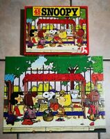 Vintage 1984 Puzzle SNOOPY Au Marché TBE Complet 45 Pièces 31,5x41,5cm Nathan
