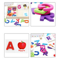 Children Wooden Education English ABC Alphabet Letter Cards Cognitive Toys B
