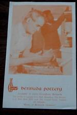 Bermuda Pottery, Home of Bermuda Ceramics, Vintage Informational Tour Flyer