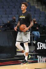 Authentic NBA Los Angeles LAKERS Nike Dri-FIT Short Sleeve Black Practice Shirt