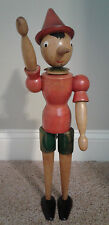 Vintage Antique Handcrafted Wood Pinocchio Doll Made in Italy - Extremely Rare!