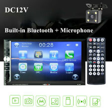 "2DIN 7"" HD Car Stereo Radio MP5 Player Bluetooth Touch Screen & Rear Camera Part"