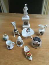 Crested china, various towns, shapes and manufactures