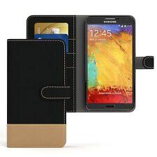 Tasche für Samsung Galaxy Note 3 Jeans Cover Handy Schutz Hülle Case Schwarz