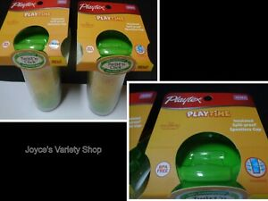 Playtex Twist N Click Butterfly Toddler Sippy Cups LOT OF 2 NO SPILL