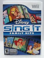 Disney Sing It: Family Hits Nintendo Wii 2010  Complete