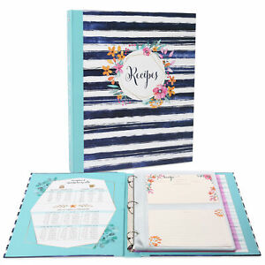 Recipe Binder Keeper Kits for Vintage Kitchen Organize your Printed Recipes USA