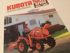 KUBOTA Diesel Tractor B7200 2WD 4WD Original 1985 Vintage Sales Brochure