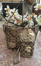 Coach 16879 Signature Bleecker Carly Floral Hobo Purse& Wristlet EUC MSRP $450