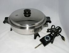 "Saladmaster 11"" Electric Skillet #7817 w Vapo Lid & Control Vg Cond Tested"