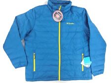 Columbia men's Thermal coil full zip puffer jacket blue / teal WM0802 489 XL NEW