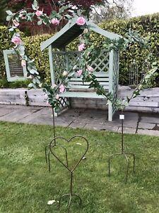 Metal Heart Shaped Garden Stake Large