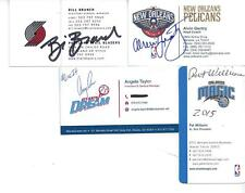 Wnba Atlanta Dream President Angela Taylor Signed Business Card