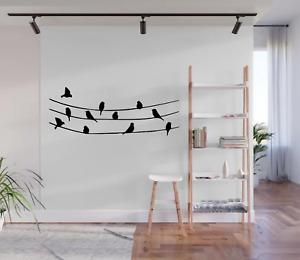 Birds On A Line Wall Art Sticker Decal Home Decor A72