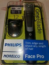 NEW PHILIPS NORELCO ONEBLADE FACE PRO Hybrid Electric Trimmer Shaver # QP6510/70