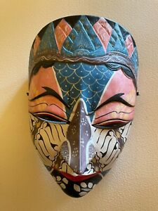 Indonesian Mask Colorful Piece