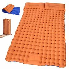 New listing Self Inflating Sleeping Pad for Camping - Extra Thickness & Full Blue Orange