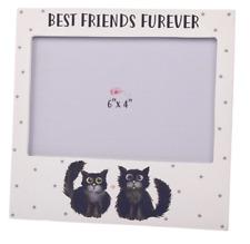 """Best Friends Furever photo frame cats 6"""" x 4"""" wooden"""