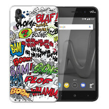 Coque Wiko Lenny 4 Plus + 1 Verre de Protection - Motif Comics