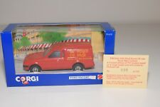 ^ CORGI TOYS 91610 FORD ESCORT 55 VAN ROYAL MAIL POSTCODE MIB 690/750