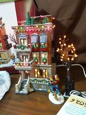 Dept 56 Christmas In The City 2002 Parkside Holiday Brownstone 4 Piece 58937