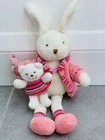 JELLYCAT Jelly Kitten Pink Bunny Rabbit & Teddy Bear Soft Toy Comforter