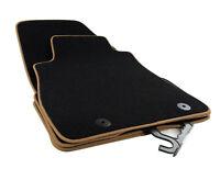 Tapis de sol pour Nissan Juke Premium velours noir bordure beige 2X